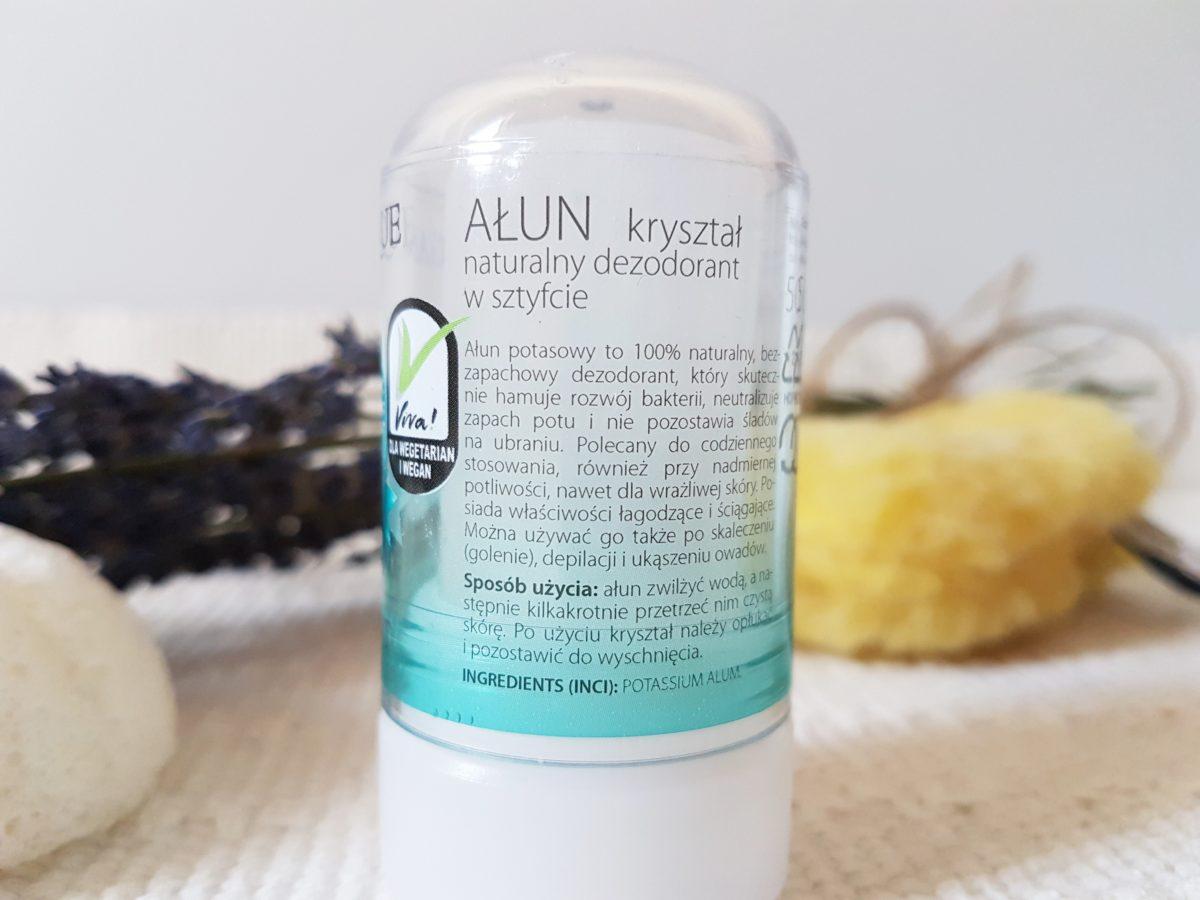 ałun naturalny dezodorant